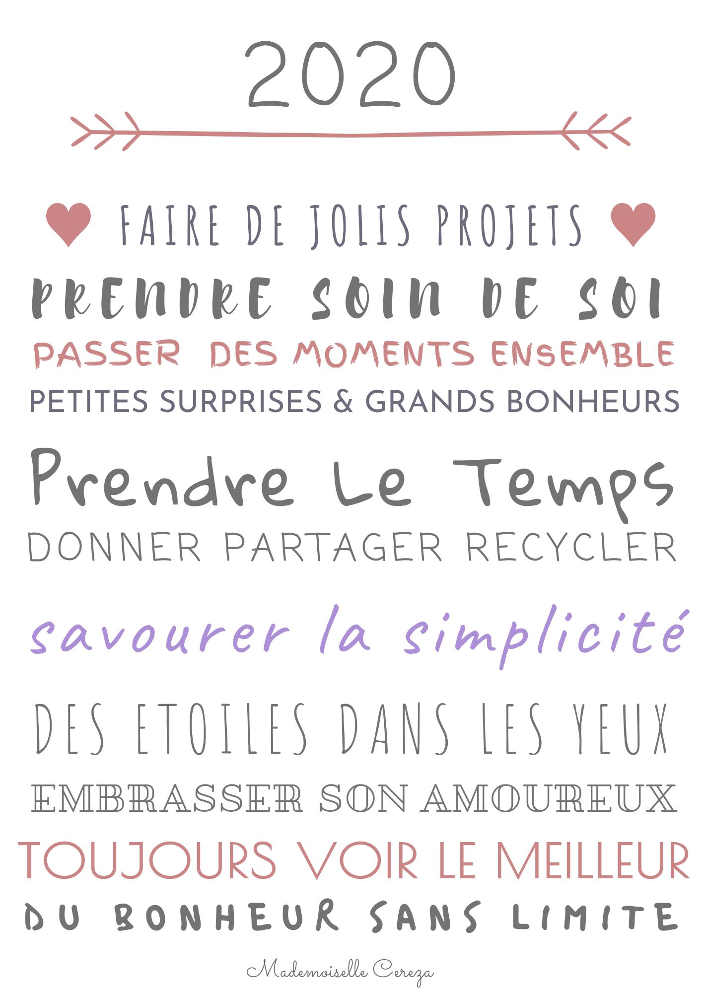 Voeux De Bonheur Carte De Voeux A Imprimer Melle Cereza Blog Mariage Original