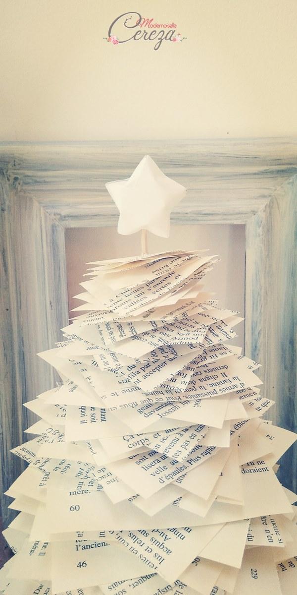 sapin de Noël original en récup tuto Melle Cereza