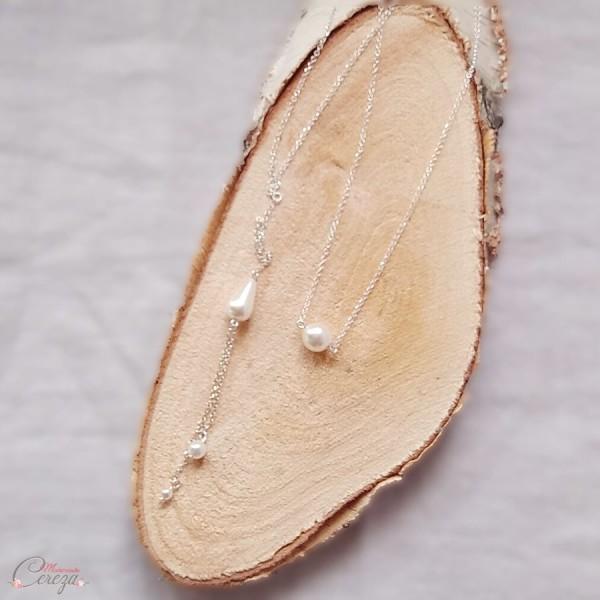 bijou de dos collier mariage perles Melle Cereza
