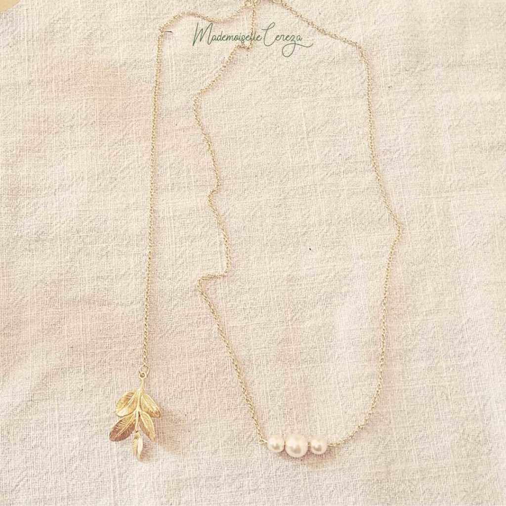 collier dos nu mariage champetre Melle Cereza