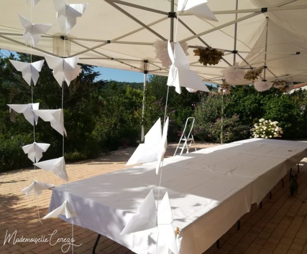 installation table & déco de mon mariage